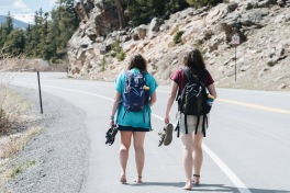 we tried to hitchhike, it didn't work